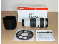 Canon 70-200mm F/4 L Lens in Excellent Condition