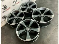 """BRAND NEW 18"""" 19"""" AUDI RS ROTOR SLINE STYLE ALLOY WHEELS - 5 x 112"""