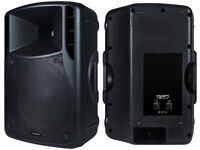 Pair KAM RZ15 PA speakers with replacement Skytec 15in bass drivers.
