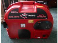 Briggs & Stratton BSQ 1000 Portable 2.4hp, 4.5L Petrol Suitcase Generator. Quiet