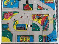 Stocking filler - Vintage 1985 Matchbox Motorcity playmat – post or collect