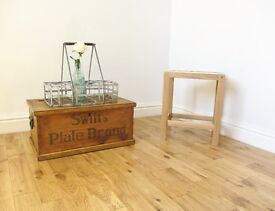 Vintage Pine Storage Chest