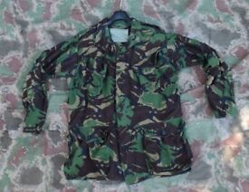 Original 1985 Pattern DPM Temperate Field Jacket in woodland camo, Size is 180/112