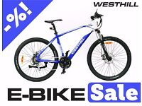 ELECTRIC BIKE SALE - WESTHILL ELECTRIC MOUNTAIN BIKES - NEW