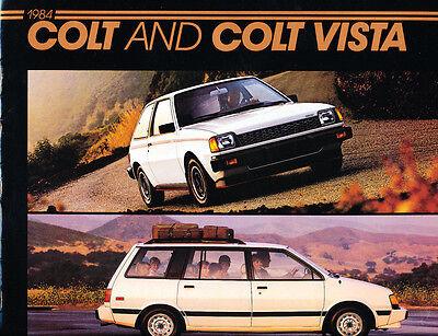 1984 Dodge Colt 16-page Original Car Sales Brochure Catalog - Vista (1984 Dodge Colt)
