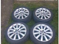 "18""vauxhall alloys qith brand new tyres"