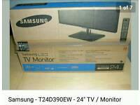 "Samsung 24"" TV/Monitor Samsung T24D390EW."