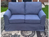 Ex-display Tatton 2 Seater Grey Fabric Material Sofa. ( New 3 Seater also available)