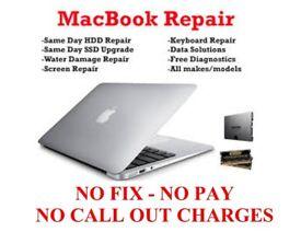 Mac Repairs, Servicing, Upgrades. No fix - No Fee