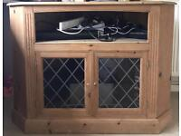 Large Solid Pine Corner TV Unit