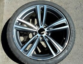 "1 X GENUINE BMW 3 4 SERIES M SPORT STYLE 422M 8.5""X19""REAR ALLOY WHEEL 7852494 7846781"