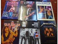 A SELECTION OF ROCK MUSIC BOOKS FOR SALE. ALL IN EXCELLENT CONDITION.
