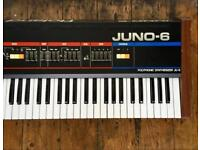 Roland Juno 6 vintage 80s 6 voice polyphonic synthesiser JU-6