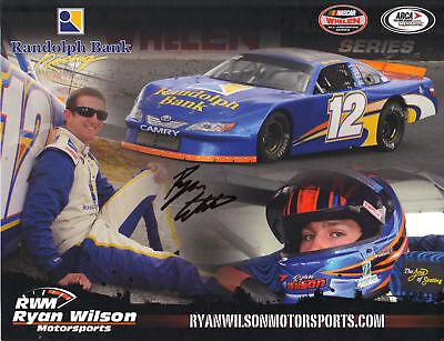 Ryan Wilson 2011 Signed Randolph Bank  12 Lm Postcard