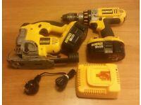 Dewalt 18v drill & jigsaw