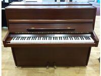 Knight K10 Modern Upright Piano Mahogany Satin Cabinet