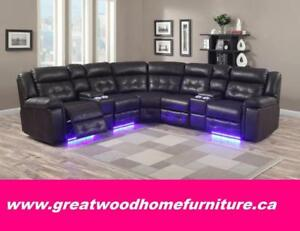 *** POWER SECTIONAL WITH LED LIGHTS...$1999 ONLY ***