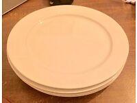 Set of 4 extra large white pizza plates ikea 365