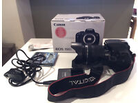 Canon 700D camera with 18-135mm lens and UV filter