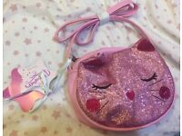 Brand new girls pink glitter Handbag New with tags