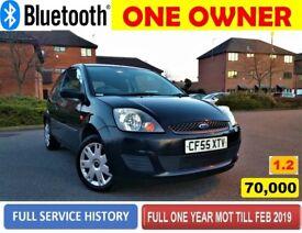 70,000 Miles!!! 2006 1.25 FORD FIESTA, FULL ONE YEAR MOT like Vauxhall Corsa VW Polo Ka FOCUS