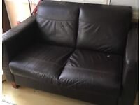 Used brown leather sofas