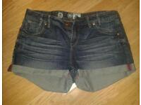 Womens Denim Shorts New Look Size 14