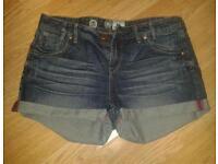 Womens Denim Shorts New Look Size 14