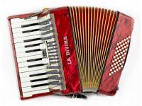 La Davina (Hohner) - 48 Bass / 26 Keys - 2 Voice (MM) Lightweight Red Piano Accordion