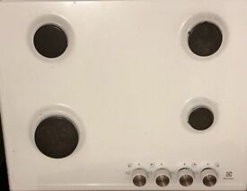 Electrolux single fan intergrated oven and 4 ring gas hob