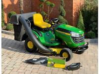 """John Deere X145 Ride on mower - 42"""" deck - lawnmower - Grass collector - Honda / Kubota / Stiga"""