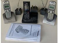 Cordless telephone/answer machine trio