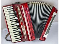 Baile 41 / 120 Accordion - 4 Voice - Double Octave - Pearl Red