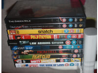 Assorted DVDs 18+ ~ Snatch, Green Mile, Pulp Ficiton, Fight Club, and others