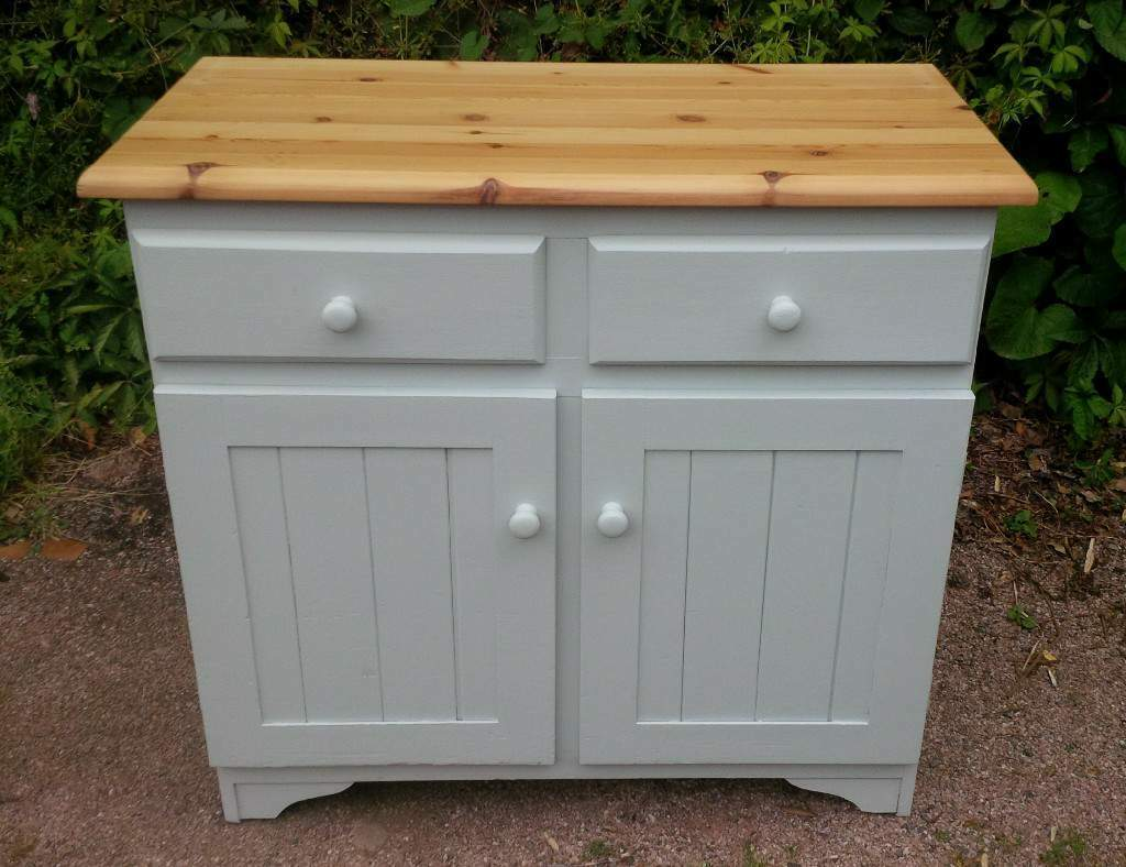 Sideboard Dresser In Solid Pine Painted Farrow Ball Skylight Egg S