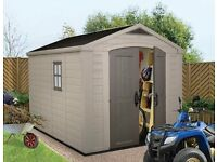 **BRAND NEW KETER 8 X 11 SHED** ** 8 AVAILABLE **STILL SEALED IN BOX **