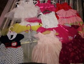 Mixed size designer baby clothes and shoes ranging from 3 months -1 year old