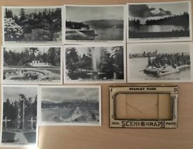 Vintage Photo Postcard Set of Stanley Park, Vancouver, Canada