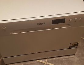 Zanussi tabletop dishwasher 6 months old in silver