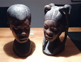 Nigerian Wooden Carved Heads