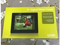 "8"" Digital photo frame by Logik - BNIB"