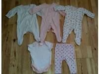 Girls Clothes Bundle Tiny Baby Size