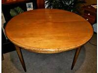 Extendable dining table. Solid teak. G plan