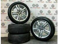 "GENUINE AUDI 18"" A4/A5 ALLOY WHEELS & TYRES (Fits VW) - 245/45/18 - 5 x 112 - 213"