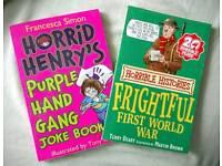 Horrid Henry Joke Book & Horrible Histories (WWI)