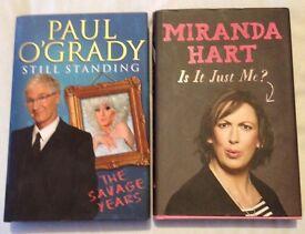 Miranda & Paul OGrady hardback books
