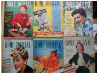 Bulk lot of 1950s Home Journal and Home magazines