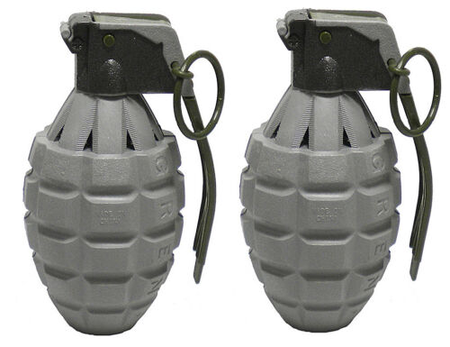 2 Pack Gray Toy Dummy Pineapple Hand Grenades