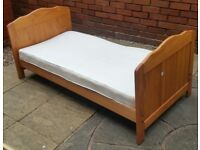 toddler bed with mattress. In good condition.