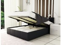 🔴🔵BEST SELLING BRAND🔴 Brand new Double or King leather ottoman storage bed + Deep quilt mattress